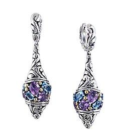 Effy® Multicolor Drop Earrings In Sterling Silver