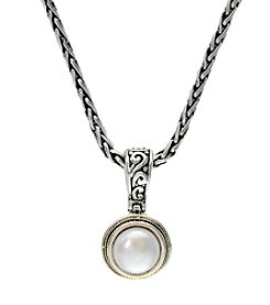 Effy® Cultured Freshwater Pearl Pendant In Sterling Silver