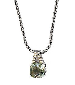 Effy® Green Amethyst Pendant In Sterling Silver