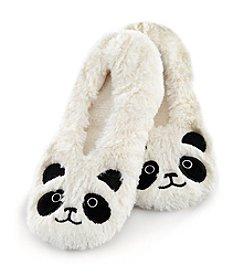Fuzzy Babba® Panda Critter Furry Slippers