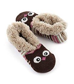 Fuzzy Babba® Teddy Fur Owl Slipper Socks