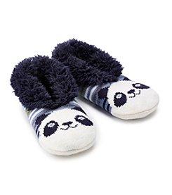 Fuzzy Babba® Teddy Fur Panda Slipper Socks