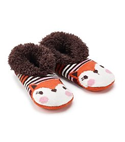 Fuzzy Babba® Teddy Fur Fox Slipper Socks