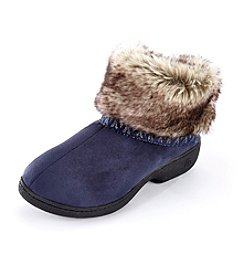 Isotoner Signature® Woodlands Microsuede Low Boot Slippers