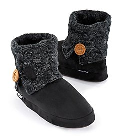 MUK LUKS Patti Slipper Boots With Knit Cuff