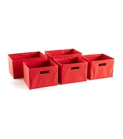 Guidecraft® Five Red Storage Bins