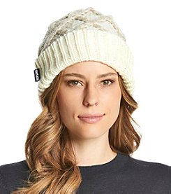 MUK LUKS Lattice Knit Cuff Cap