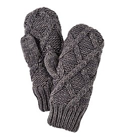 MUK LUKS Lattice Knit Mittens