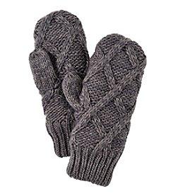 MUK LUKS Lattice Knit Mittens