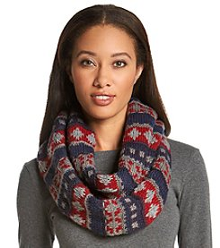 MUK LUKS Fair Isle Eternity Scarf
