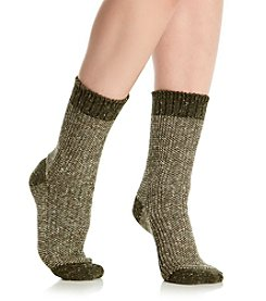 HUE® Tweed Twist Boot Socks