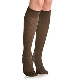 HUE® Triple Rib Knee High Socks