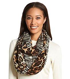 Cejon® Fuzzy Leopard Infinity Scarf