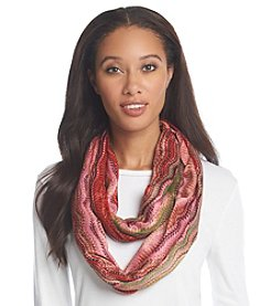 Basha Mixed Media Print Eternity Scarf