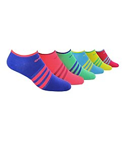 adidas® 6 Pack Neon Superlite No Show Socks