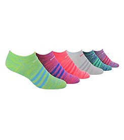 adidas® 6 Pack Spacedye Superlite No Show Socks