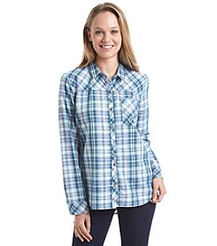 Sequin Hearts® Plaid Shirt