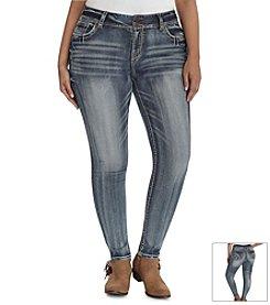 Wallflower® Plus Size Streaky Skinny Leg Jeans