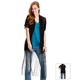 Jessica Simpson Lace Fringe Kimono