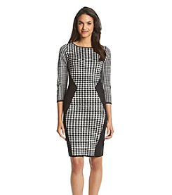 Nine West® Houndstooth Shift Dress