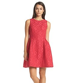 Calvin Klein Lace Scuba Fit And Flare Dress