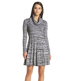 Calvin Klein Marled Sweater Fit And Flare Dress