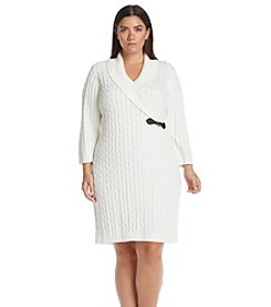 Calvin Klein Plus Size Cable Knit Sweater Dress