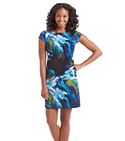 Jessica Howard® Petites' Brush Print Dress
