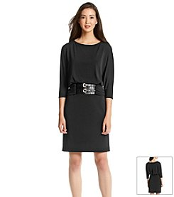 Jessica Howard® Ruched Buckle Dress