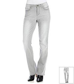 Earl Jean® Fleur De Lis Barely Bootcut Jeans