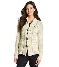 Relativity® Toggle Cardigan Sweater