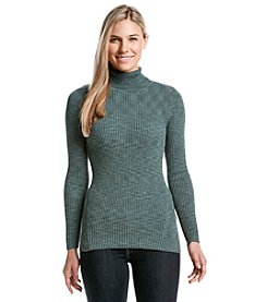 Relativity® Novelty Ribbed Turtleneck