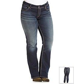 Silver Jeans Co. Plus Size Suki Mid-Rise Slim Bootcut Jeans