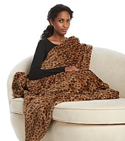 Cuddl Duds® Leopard Foot Pocket Throw