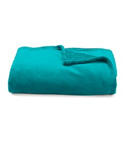 LivingQuarters Luxe Royal Emerald Plush Throw