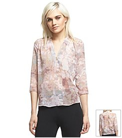 Robert Rodriguez® Sheer Print Top