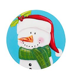 LivingQuarters Snowman Round Placemat