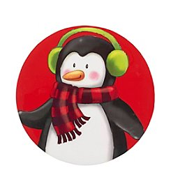 LivingQuarters Penguin Round Placemat