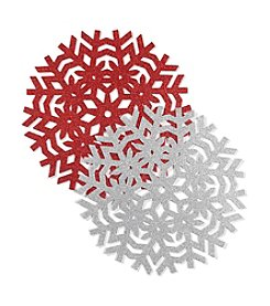 LivingQuarters Glitter Snowflake Placemat