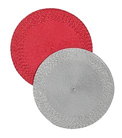 LivingQuarters Border Sequin Round Placemat