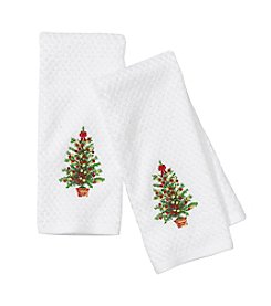 Croscill® Christmas Tree 2-pk. Kitchen Towels