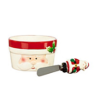 Pfaltzgraff® Winterberry Santa Dip Bowl And Spreader