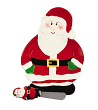 Pfaltzgraff® Winterberry Santa Tidbit Tray And Spreader