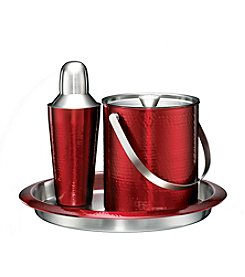 Cambridge Silversmiths Bellamy Red Hammered 3-pc. Bar Set