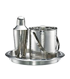 Cambridge Silversmiths Bellamy Stainless Hammered 3-pc. Bar Set