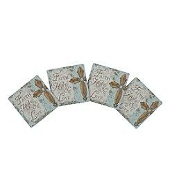 Thirstystone® Set Of Four Faith, Hope, Love Cross Coasters