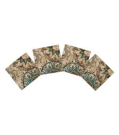 Thirstystone® Set Of Four Blue And Brown Henna Pattern Coasters