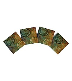 Thirstystone® Set Of Four  Blue Brown Circles Coasters