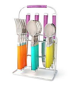 Fiesta® Temptation Botanical 16-pc. Flatware Set With Rack