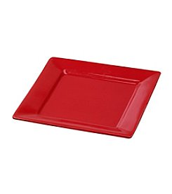 LivingQuarters Red Square Salad Plate